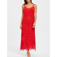 Crochet Maxi Beach Cover Up Dress