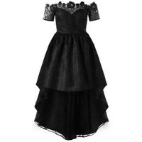 Off The Shoulder Lace High Low Party Dress