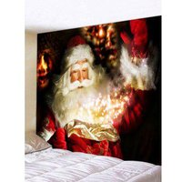 3D Santa Claus Tapestry Wall Art Home Decor
