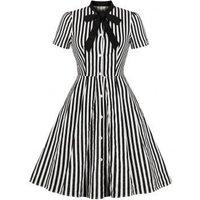 Bow Tie Striped Vintage Dress