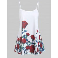 A Line Rose Flower Tunic Cami Top
