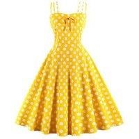 Polka Dot Strappy Party Dress