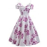 Floral Cami Cold Shoulder Party Dress