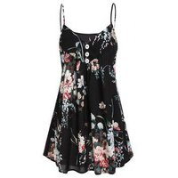 A Line Flower Tunic Cami Top