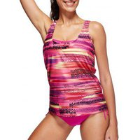 Cut Out Zigzag Print Tankini Set