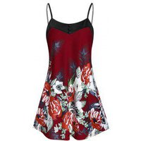Cami Button Floral Print Tank Top