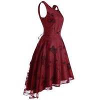 Butterfly Lace High Low Party Dress