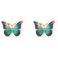 Drops Oil Butterfly Stud Earrings
