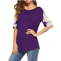 Crochet Lace Panel Tunic Top