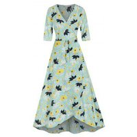 Flower Print Wrap Maxi Dress