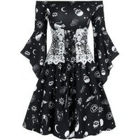 Animal Skull Print Off Shoulder Corset Mini Dress