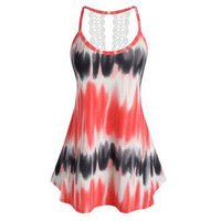 Plus Size Tie Dyed Tunic Tank Top
