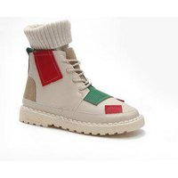 Winter Cotton Fashion Casual and Low Heel Boots, White