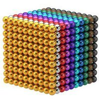 100Pcs 5mm DIY Multicolor or Silver Magnetic Balls Sphere Bead Magnet Cube Gift