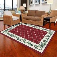1Pc Living Room Mat Plain Style Color Block Durable Modern Mat