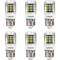 BREL0NG 30LED SMD5733 E27 6W 600LM Corn Light AC220-240V 6PCS