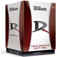 Wilson Deep Red Golf Balls 24 Pack