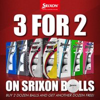 3 For 2 Dozen Srixon Golf Ball Offer