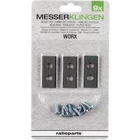 Messerklingen Satz passend für Worx 36,2 x 7,0 mm (9 Stück)