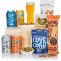 British Beer Hamper In Wooden Crate