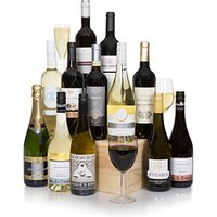 Grand Twelve Bottle Wine Selection With Champagne