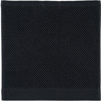 Rhomtuft - Handtücher Baronesse - Farbe: schwarz - 15 Seiflappen 30x30 cm