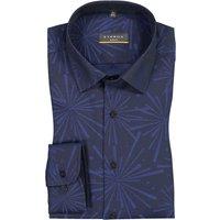 Freizeithemd mit modischem Muster, Slim Fit von Eterna in Schwarz für Herren