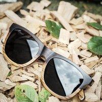 Wayfarer Wood Sunglasses | Ebony & Zebra - SG35 image