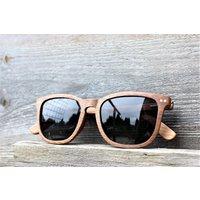 Paul Ven Fox Walnut Wood Square Wayfarer Wooden Sunglasses - SG58 image