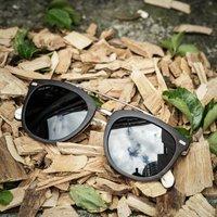 Ebony Wood Square Wooden Sunglasses 09