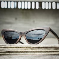Personalised, Wood Cat Eye Sunglasses For Women - SG23 image