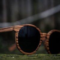 Wooden Round Sunglasses | Zebra Wood - SG32 image