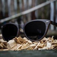 Wood Cat Eye Sunglasses For Women - SG26 image