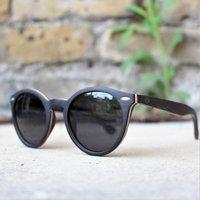 Wooden Round Sunglasses | Ebony Wood Sunglasses for Women - SG39 image