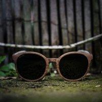Wooden Round Sunglasses | Walnut Wood - SG36 image
