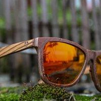 Red Stone & Zebra Wood Sunglasses 18 - SG18 image