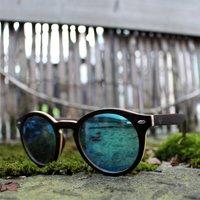 Wooden Round Sunglasses - SG31 image