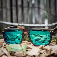 Paul Ven Wood Flat Top Sunglasses 34 - SG34 image
