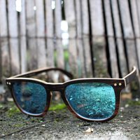 Paul Ven Fox | Ebony Square Wayfarer Wooden Sunglasses - SG59 image