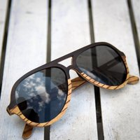 Wooden Aviator Style Sunglasses | Made By Paul Ven - SG44 image