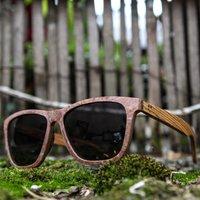 Red Stone & Zebra Wood Sunglasses - SG24 image