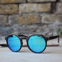 Round Wood Sunglasses - SG25 image