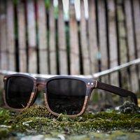 Walnut & Ebony Wood   Engraved Sunglasses