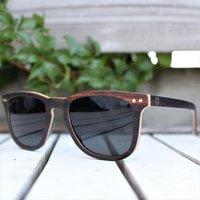 Paul Ven Ebony Wood Square Wayfarer | Wooden Sunglasses - SG55 image
