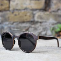 Round Wood Sunglasses | Paul Ven Fox Ebony - SG22 image