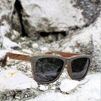 Stone Sunglasses, Zebra Wood Sunglasses - SG19 image