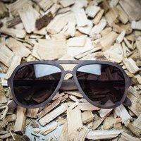 Wood Aviator Style Sunglasses - SG50 image