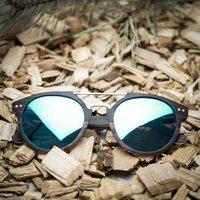Ebony Wood, Round Style, Wood Sunglasses
