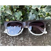Luxury Real Wood Walnut & Marble Sunglasses