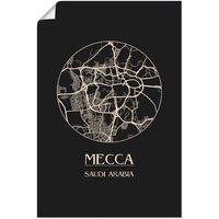 Artland Wandbild »Retro Karte Mekka Kreis«, Landkarten (1 Stück), in vielen Größen & Produktarten - Alubild / Outdoorbild für den Außenbereich, Leinwandbild, Poster, Wandaufkleber / Wandtattoo auch für Badezimmer geeignet